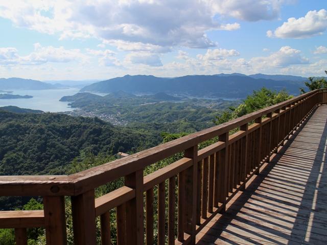 しまなみ海道、向島の高見山展望台