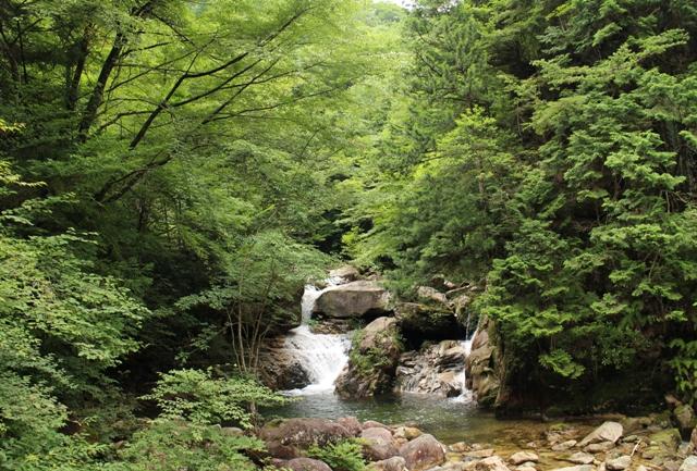 石ケ谷峡の丸淵