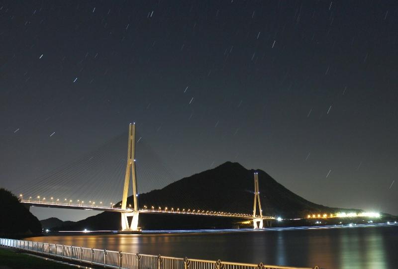 多々羅大橋の夜景
