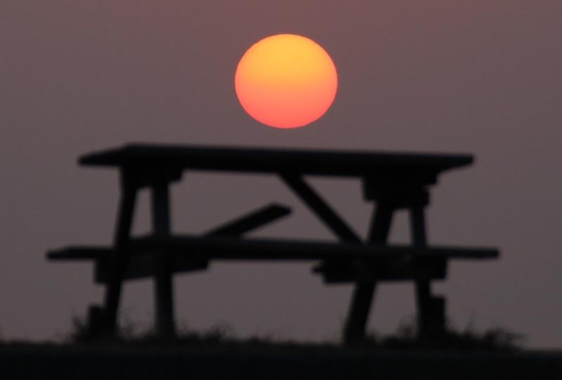 しまなみ海道、伯方島の夕日