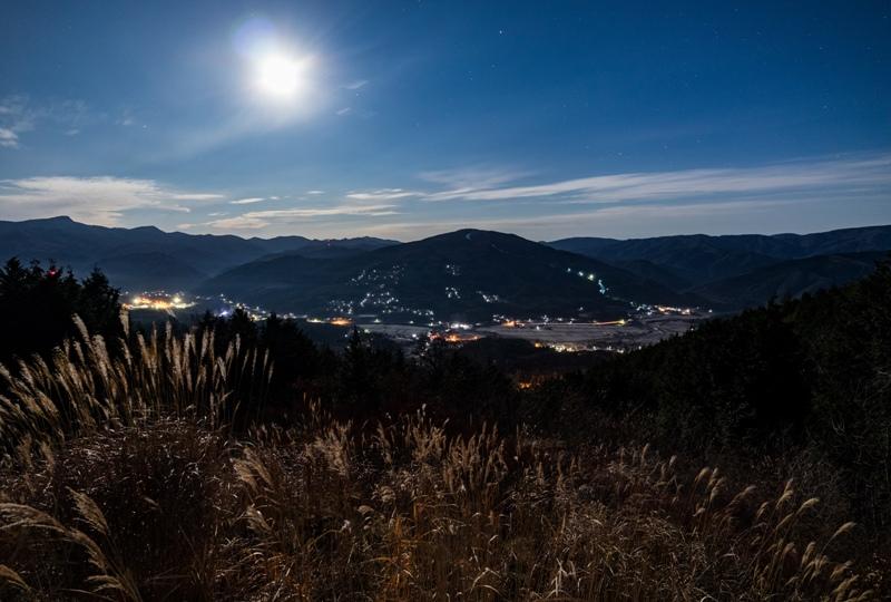 吉和展望台から眺める夜景