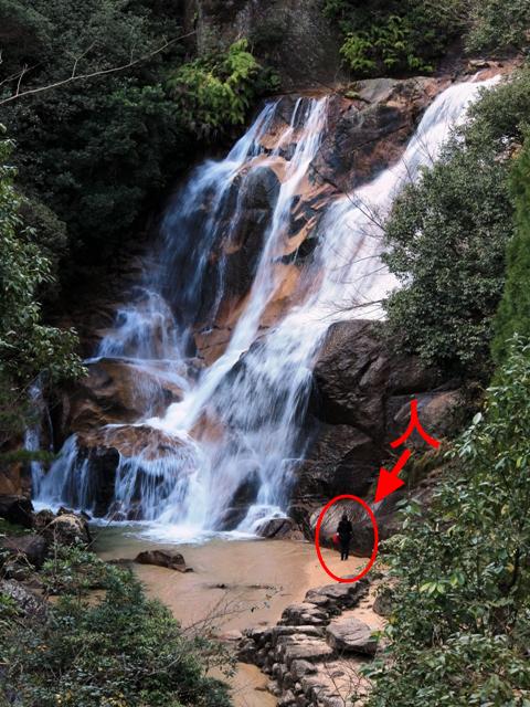 妹背の滝(雄滝)
