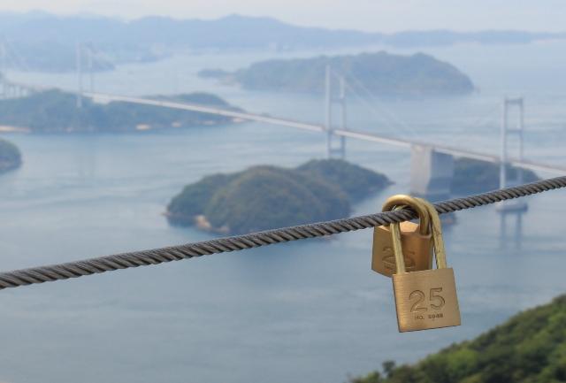 亀老山展望台の南京錠