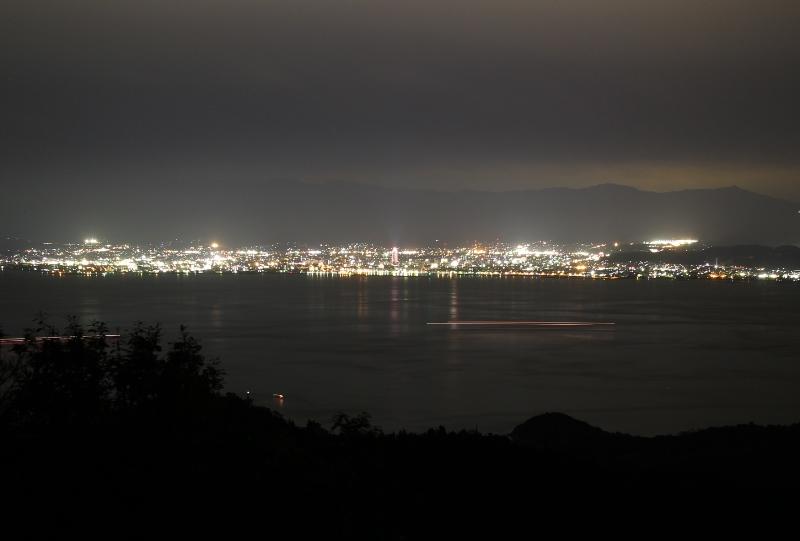 亀老山展望公園から今治市街地の夜景