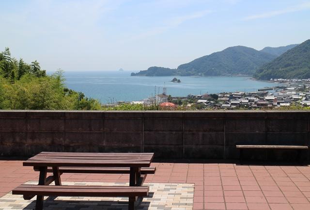 大浜パーキングエリア(下り線)からの景色