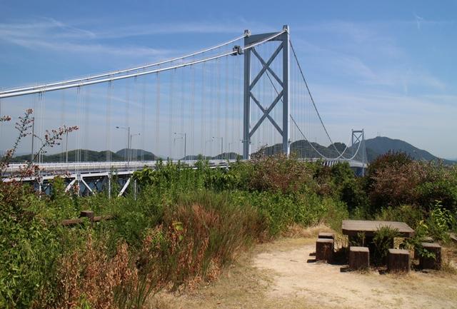 展望台から因島大橋の眺め