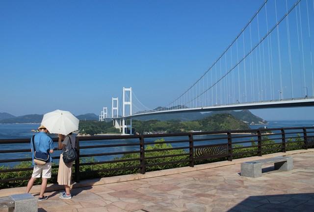 来島海峡展望館で記念撮影