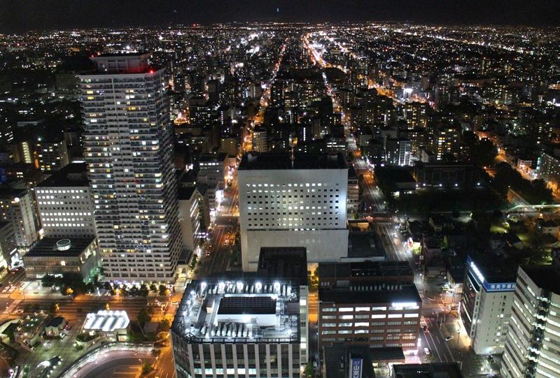 JRタワー展望室からの北側の夜景