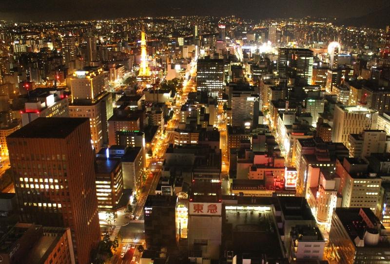 JRタワー展望室からの南側の夜景