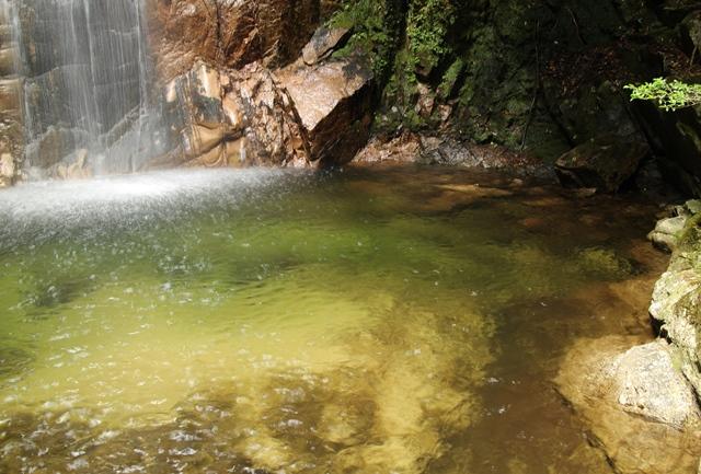「龍頭の滝」滝つぼ