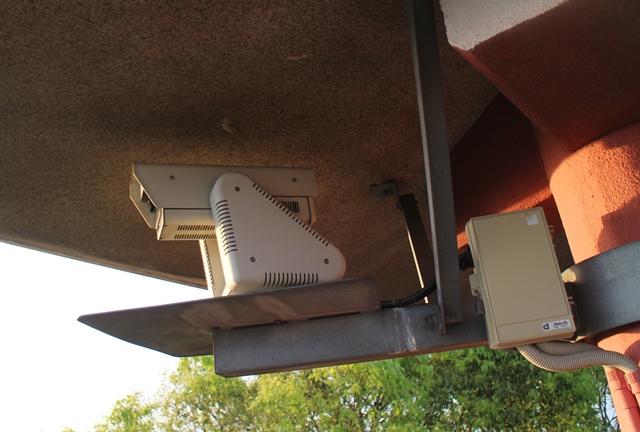 浄土寺山展望台に設置されたテレビカメラ