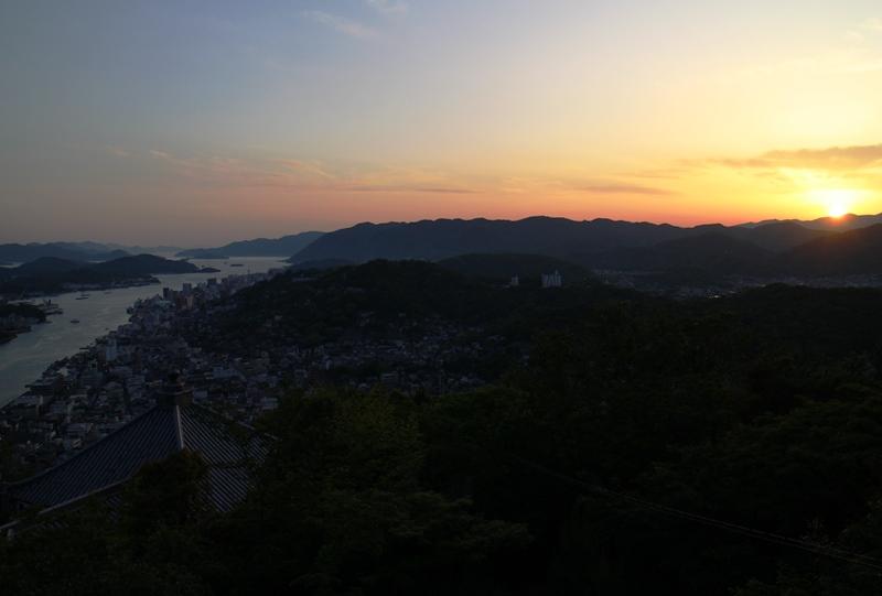 浄土寺山展望台から、尾道の夕日
