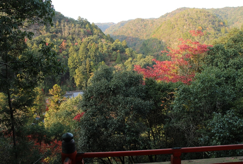 佛通寺の多宝塔からの景色