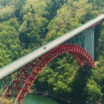 『猪山展望台』から龍姫湖(温井ダム)と瀧山峡大橋を望む!