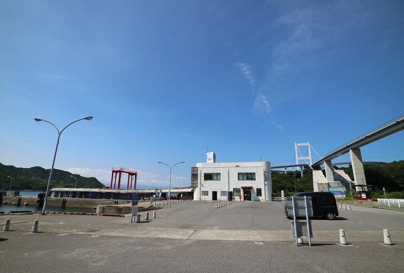 来島海峡急流観潮船乗り場の下田水港
