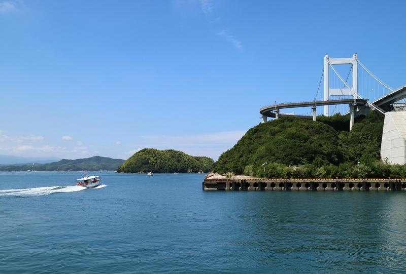 来島海峡急流観潮船、出港