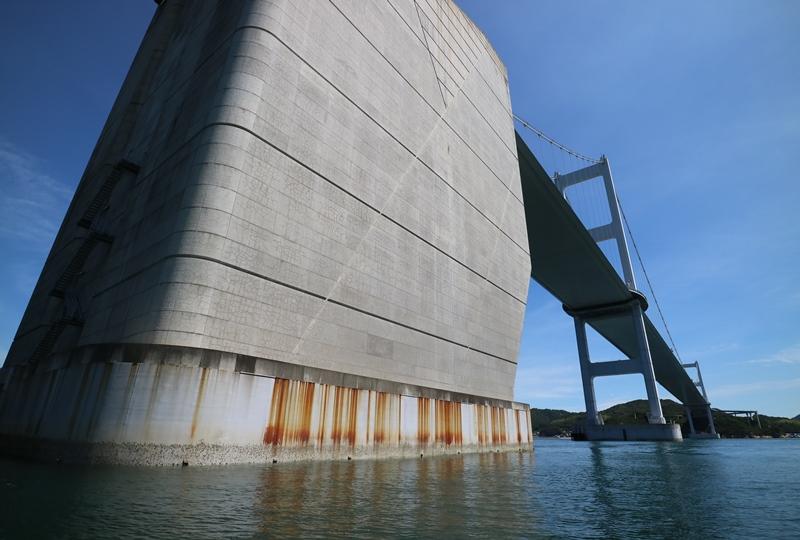 来島海峡大橋のアンカレイジ