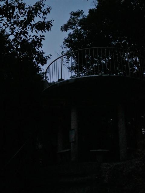 妹背の滝、夜の展望台