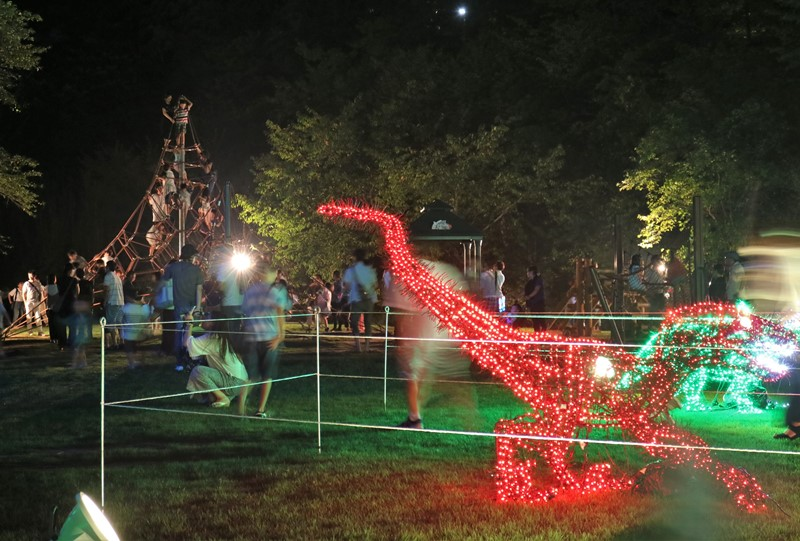 「花と光のページェント」光り輝く恐竜の世界(広島市植物公園)