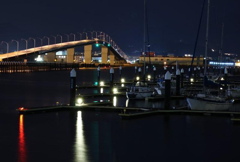 「広島はつかいち大橋」の夜景