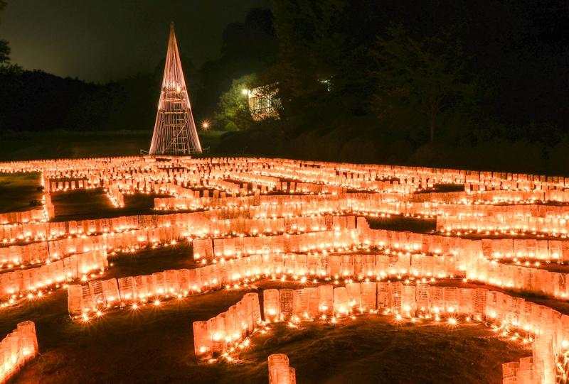 広島市植物公園、キャンドルの迷路