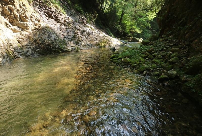 岩井谷の大龍頭の滝つぼ