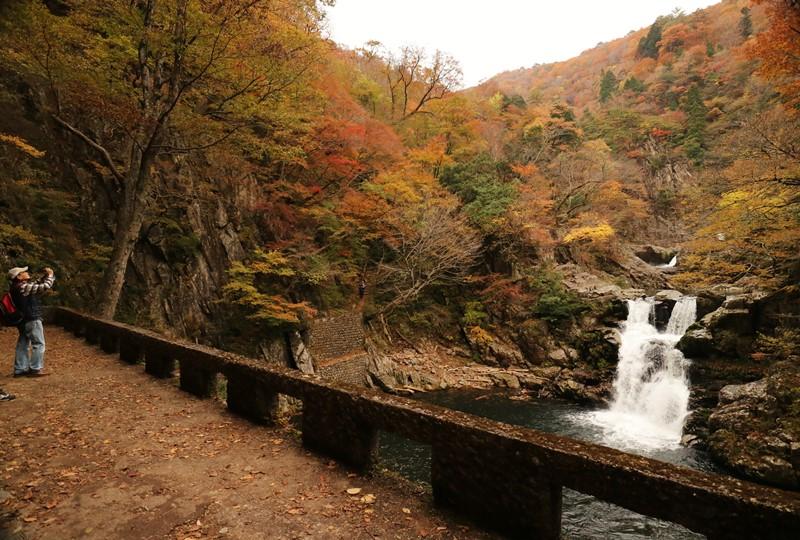 三段峡、三段滝の展望台