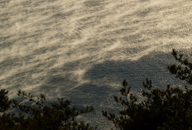 海霧が無い部分の海