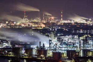 亀居公園から大竹の工場夜景