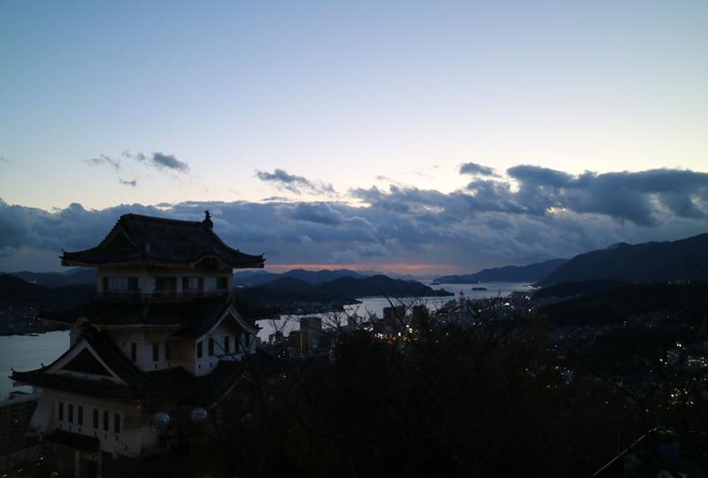 千光寺公園、西展望台からの夜景(尾道城)