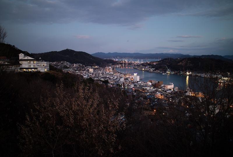 千光寺公園、西展望台からの夜景