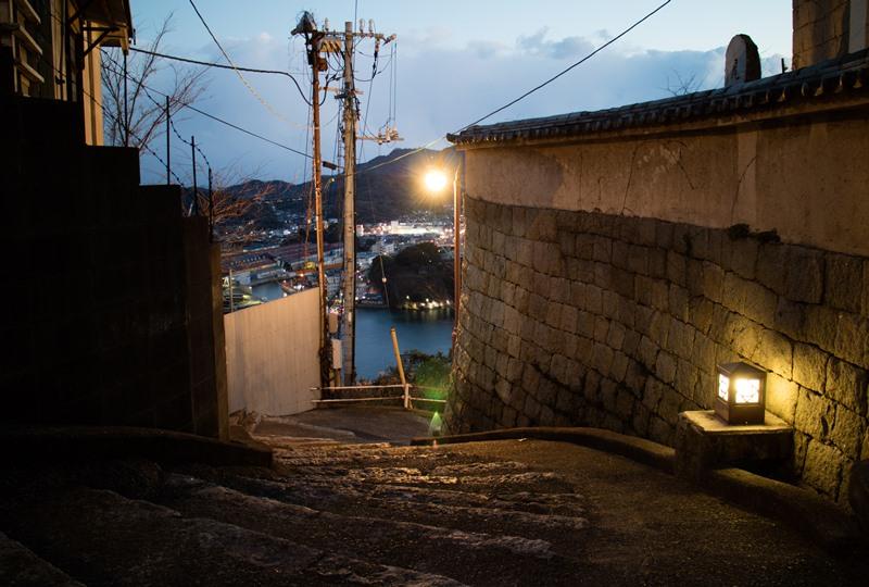 尾道城の目の前の道