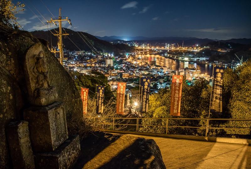 千光寺から尾道大橋の夜景
