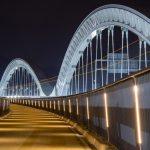 『太田川大橋』の夜景!アーチのトラスに釘付けじゃ~!!