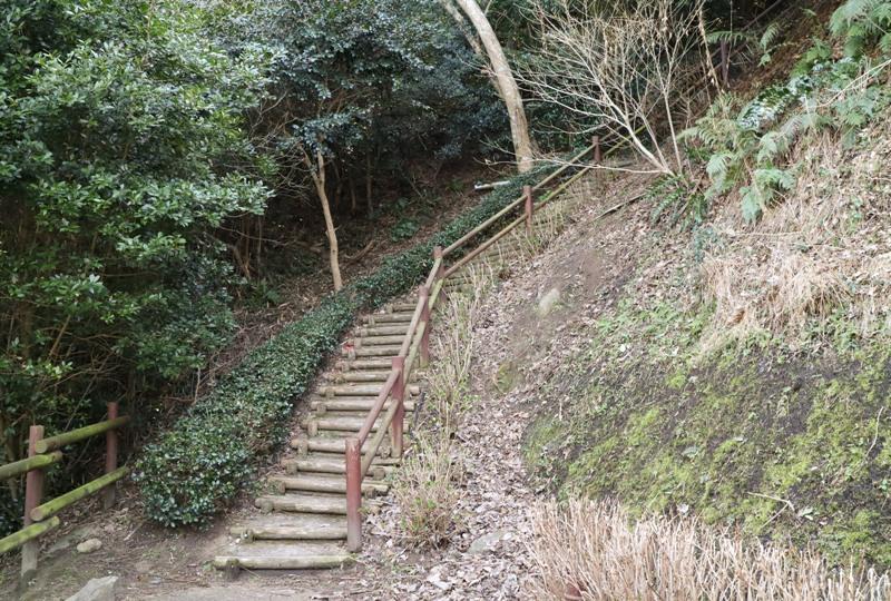 城山歴史公園、遊歩道の階段