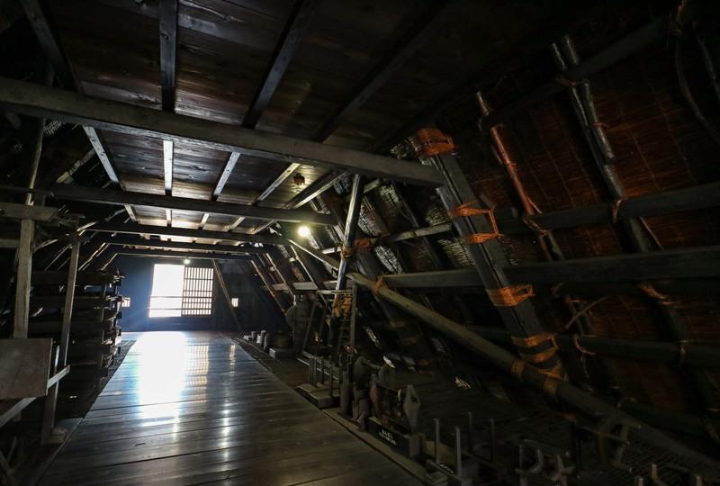 白川郷、神田家の三階
