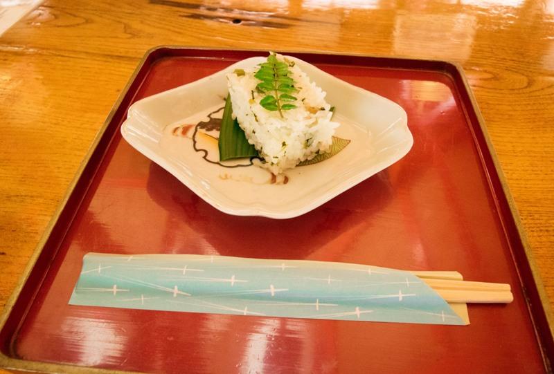 右平『花園の里』、葉ワサビ寿司