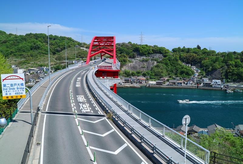 第二音戸大橋から音戸の瀬戸を望む
