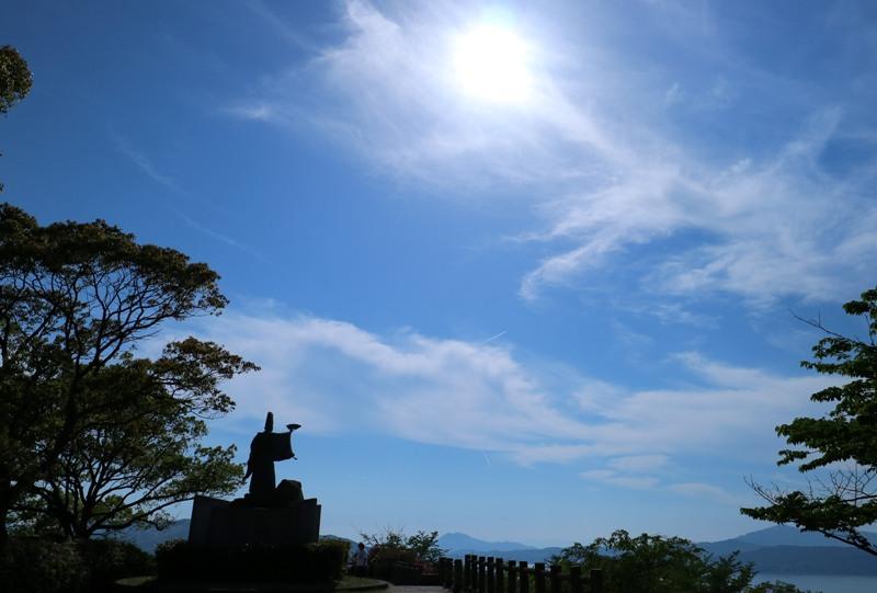 音戸の瀬戸公園、高烏台展望台の平清盛像