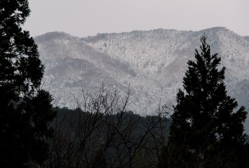 奥の山は雪景色