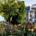 広島平和記念公園の小さなバラ園