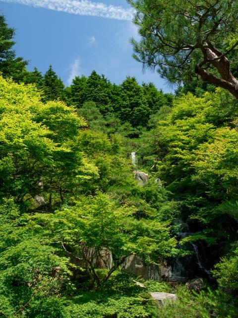 三景園、三段の滝