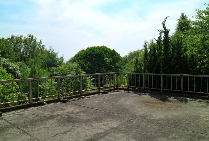 水分峡、石ころび池付近にある展望台からの眺め