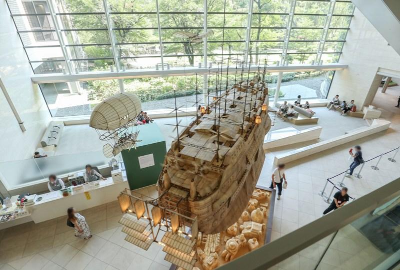 天空の城ラピュタ、空飛ぶ飛空艇の動く模型