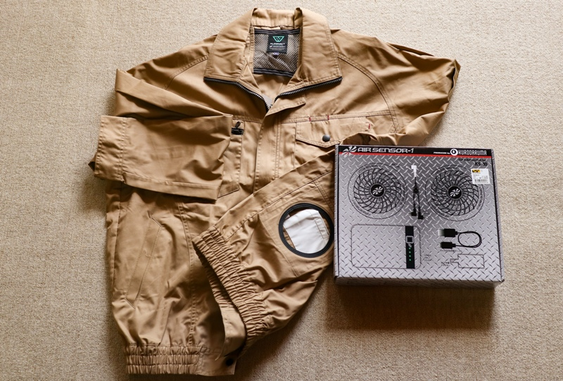 ワークマンで買った空調服「クロダルマ AIR SENSOR-1(エアセンサー1)」