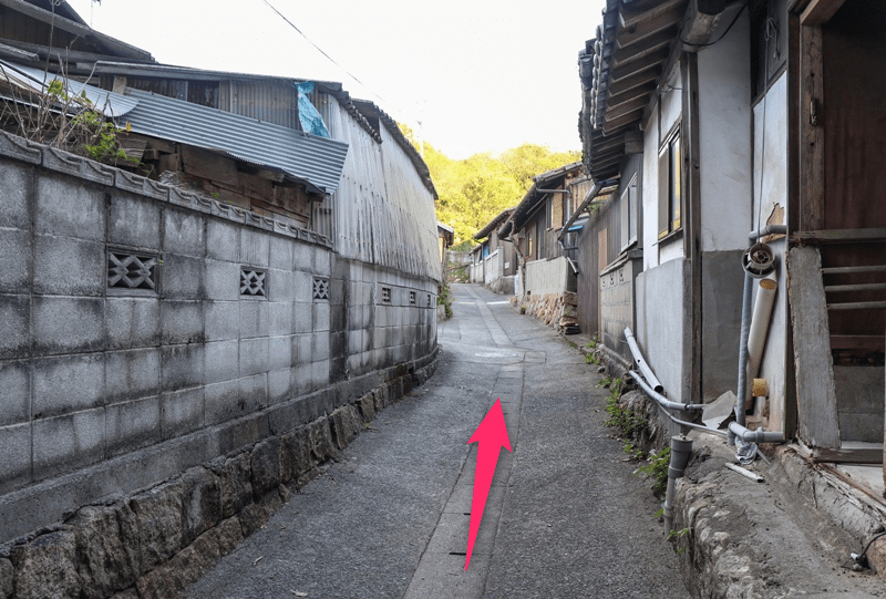 生樹の御門へのルート(行き方)