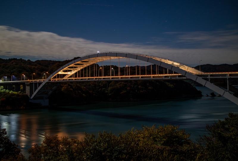 しまなみ海道「大三島橋」の夜景