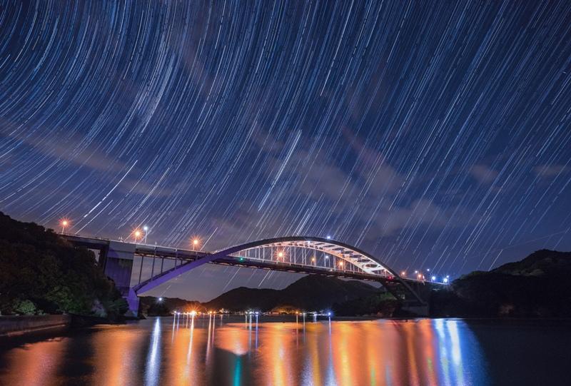 しまなみ海道「大三島橋」星降る夜景