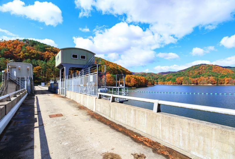 『聖湖(樽床ダム)』紅葉を楽しみながらダム湖を周遊