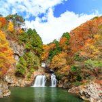 紅葉の『三ツ滝』聖湖から三段峡の五大景観へ!!(北広島町)